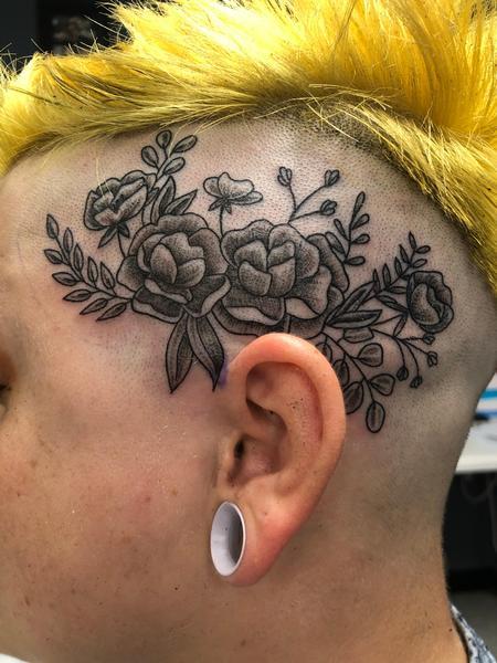 tattoos/ - Floral head tattoo  - 142820