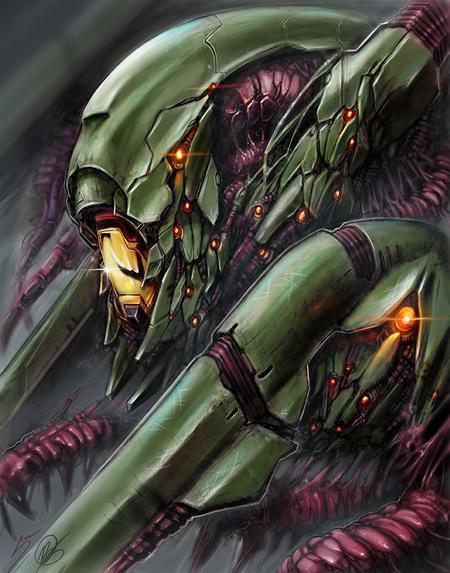 Art Galleries - Mech alien collab digital painting with Bob Jones - 120438