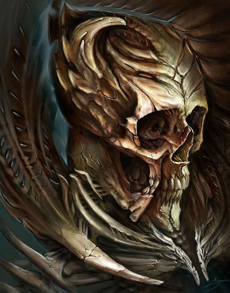 Art Galleries - Digital skull for Biomech Collective skull contest 3rd place winner! - 112037