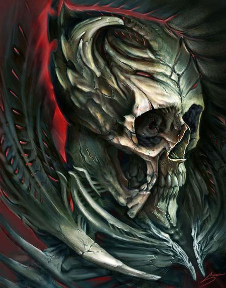 Art Galleries - Digital skull for Biomech Collective skull contest 3rd place winner! - 112036