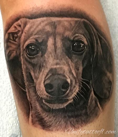tattoos/ - Dachshund Portrait - 138109