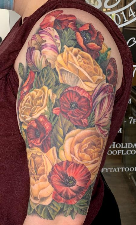 tattoos/ - Floral half sleeve - 141716