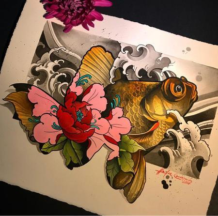 Art Galleries - Fish with flower - 138831