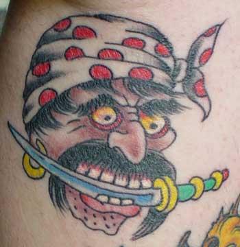 tattoos/ - Pirate Tattoo - 9820